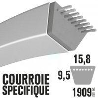 Courroie spécifique Snapper 44637, 28619 . 15,8 mm x 1909 mm.