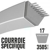 Courroie spécifique Toro 69-6220. 17 mm x 3505 mm.