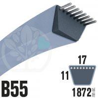 Courroie TrapézoÏdale B55 Néoprène. 17mm x 1872mm