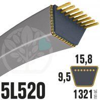 Courroie Trapézoïdale 5L520 Renforcée Kevlar. 15.8mm x 1321mm