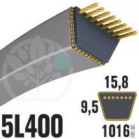 Courroie Trapézoïdale 5L400 Renforcé Kevlar. 15.8mm x 1016mm