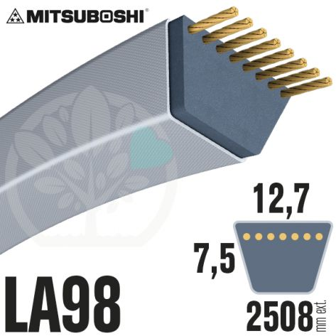 Courroie Mitsuboshi LA98 Renforcée.  12,7mm x 2508mm