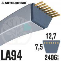 Courroie Mitsuboshi LA94 Renforcée.  12,7mm x 2406mm