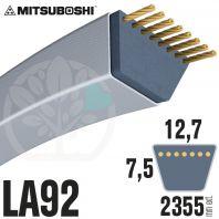 Courroie Mitsuboshi LA92 Renforcée.  12,7mm x 2355mm