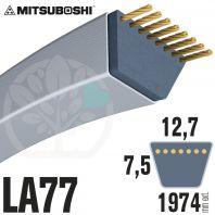 Courroie Mitsuboshi LA77 Renforcée.  12,7mm x 1974mm