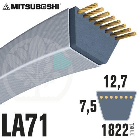 Courroie Mitsuboshi LA71 Renforcée.  12,7mm x 1822mm
