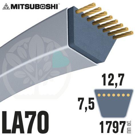 Courroie Mitsuboshi LA70 Renforcée.  12,7mm x 1797mm