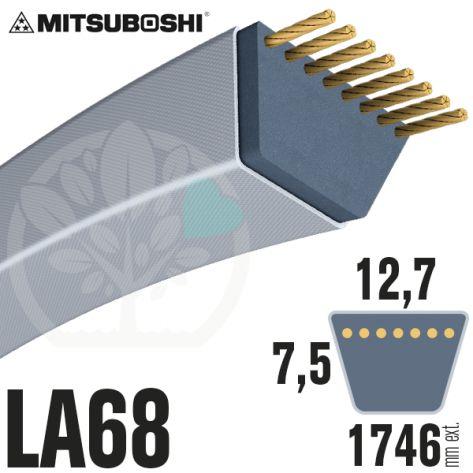 Courroie Mitsuboshi LA68 Renforcée.  12,7mm x 1746mm