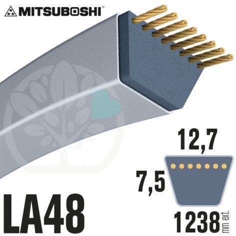 Courroie Mitsuboshi LA48 Renforcée.  12,7mm x 1238mm