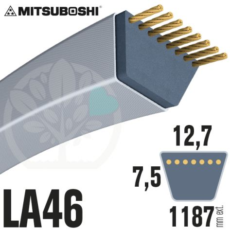 Courroie Mitsuboshi LA46 Renforcée.  12,7mm x 1187mm
