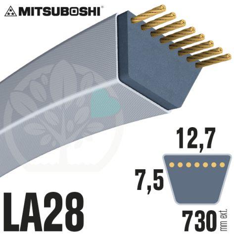 Courroie Mitsuboshi LA28 Renforcée.  12,7mm x 730mm