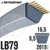 Courroie Mitsuboshi LB79 Renforcée.  16.5mm x 2019mm