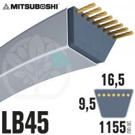 Courroie Mitsuboshi LB45 Renforcée.  16.5mm x 1155mm