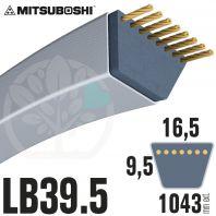 Courroie Mitsuboshi LB39.5 Renforcée.  16.5mm x 1043mm