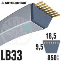 Courroie Mitsuboshi LB33 Renforcée.  16.5mm x 850mm