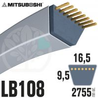 Courroie Mitsuboshi LB108 Renforcée.  16.5mm x 2755mm