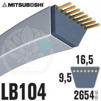 Courroie Mitsuboshi LB104 Renforcée.  16.5mm x 2654mm