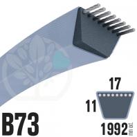 Courroie TrapézoÏdale B73 Néoprène. 17mm x 1992mm
