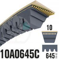 Courroie Trapézoïdale Crantée 10A0645C. 9.5mm x 645mm