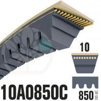Courroie Trapézoïdale Crantée 10A0850C. 9.5mm x 850mm