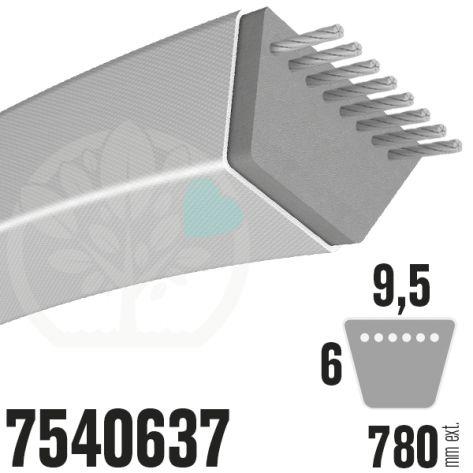 Courroie MTD Spécifique 7540637. 9,5mm x 795mm