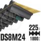 Courroie Double Denture 1800-DS8M24 (225dents) 1800mmx24mm