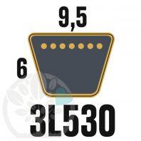 Courroie Trapézoïdale 3L530 Renforcée Kevlar. 9.5mm x 1346mm