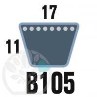 Courroie TrapézoÏdale B105 Néoprène. 17mm x 2809mm