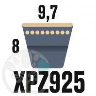 Courroie Trapézoïdale Crantée XPZ925. 9,7mm x 937mm ext.