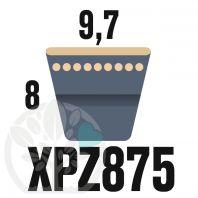 Courroie Trapézoïdale Crantée XPZ875. 9,7mm x 887mm ext.