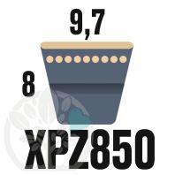 Courroie Trapézoïdale Crantée XPZ850. 9,7mm x 862mm ext.