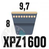 Courroie Trapézoïdale Crantée XPZ1600. 9,7mm x 1612mm ext.