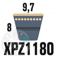 Courroie Trapézoïdale Crantée XPZ1180. 9,7mm x 1192mm ext.