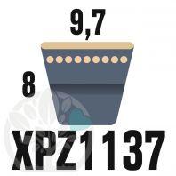 Courroie Trapézoïdale Crantée XPZ1137. 9,7mm x 1149mm ext.