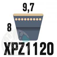 Courroie Trapézoïdale Crantée XPZ1120. 9,7mm x 1132mm ext.