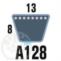 Courroie Trapézoïdale A128 Néoprène. 13mm x 3300mm