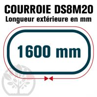Courroie Double Denture 1600-DS8M20 (200dents) 1600mmx20mm