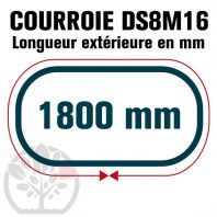 Courroie Double Denture 1800-DS8M16 (225dents) 1800mmx16mm