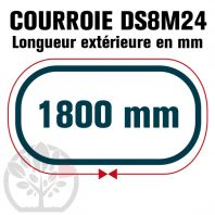 Courroie Double Denture 1800-DS8M24 (225dents) 1800mmx24mm