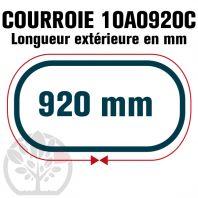 Courroie Trapézoïdale Crantée 10A0920C. 9.5mm x 920mm