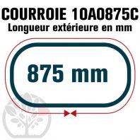 Courroie Trapézoïdale Crantée 10A0875C. 9.5mm x 875mm