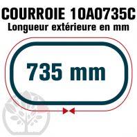 Courroie Trapézoïdale Crantée 10A0735C. 9.5mm x 735mm