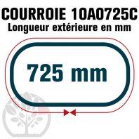 Courroie Trapézoïdale Crantée 10A0725C. 9.5mm x 725mm