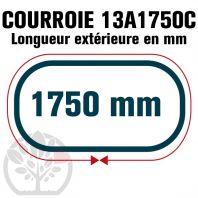Courroie Trapézoïdale Crantée 13A1750C. 12.5mm x 1750mm
