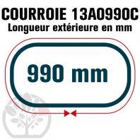 Courroie Trapézoïdale Crantée 13A0990C. 12.5mm x 990mm