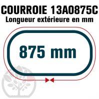 Courroie Trapézoïdale Crantée 13A0875C. 12.5mm x 875mm