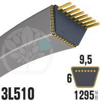 Courroie Trapézoïdale 3L510 Renforcée Kevlar. 9.5mm x 1295mm