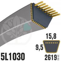 Courroie Trapézoïdale 5L1030 Renforcée Kevlar. 15.8mm x 2619mm