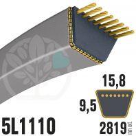 Courroie Trapézoïdale 5L1110 Renforcée Kevlar. 15.8mm x 2819mm