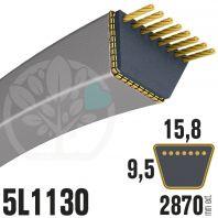 Courroie Trapézoïdale 5L1130 Renforcée Kevlar. 15.8mm x 2870mm